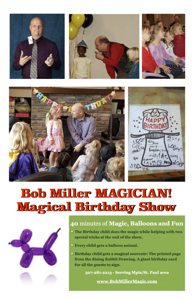Bob Miller Magic Birthday show